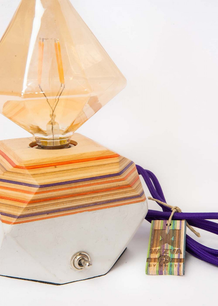 TRIANGLE PURPLE LAMP